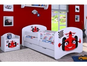 Dětská postel BABYDREAMS Car 2 se šuplíkem (1)