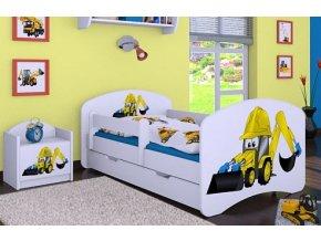 Dětská postel BABYDREAMS Digger se šuplíkem (1)