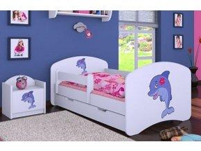 Dětská postel BABYDREAMS Dolphin se šuplíkem (1)