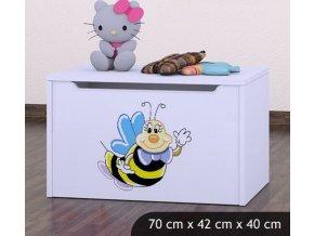 Dětská truhla na hračky BABYDREAMS A smiling bee (2)
