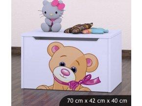 Dětská truhla na hračky BABYDREAMS Bear (3)