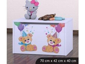 Dětská truhla na hračky BABYDREAMS Bears (6)
