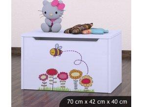 Dětská truhla na hračky BABYDREAMS Bee With A Flowers (3)