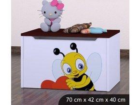 Dětská truhla na hračky BABYDREAMS Bee With A Heart (2)