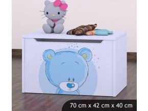 Dětská truhla na hračky BABYDREAMS Blue Teddy Bear (8)