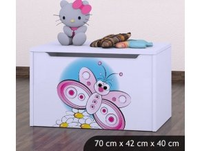 Dětská truhla na hračky BABYDREAMS Butterfly (1)