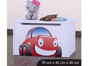 Dětská truhla na hračky BABYDREAMS Car (5)