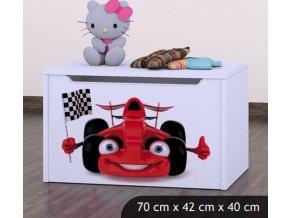 Dětská truhla na hračky BABYDREAMS Car 2 (3)