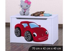 Dětská truhla na hračky BABYDREAMS Car 3 (8)