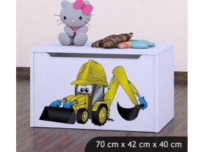 Dětská truhla na hračky BABYDREAMS Digger (2)