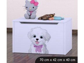 Dětská truhla na hračky BABYDREAMS Dog With Bow (4)