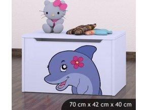 Dětská truhla na hračky BABYDREAMS Dolphin (1)