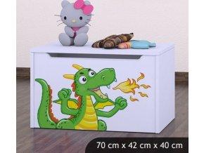 Dětská truhla na hračky BABYDREAMS Dragon (1)