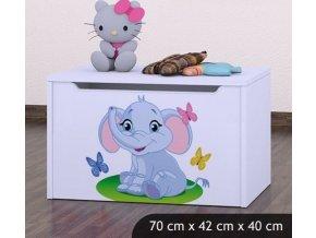 Dětská truhla na hračky BABYDREAMS Elephant (8)
