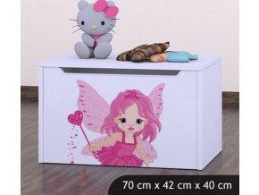 Dětská truhla na hračky BABYDREAMS Fairy (6)