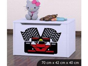 Dětská truhla na hračky BABYDREAMS Ferrari (9)