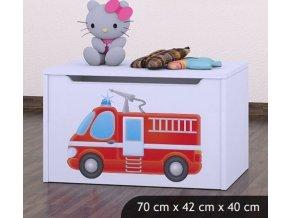 Dětská truhla na hračky BABYDREAMS Fire Truck (8)
