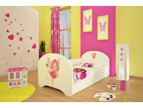Dětská postel BABYDREAMS Fairy s přistýlkou