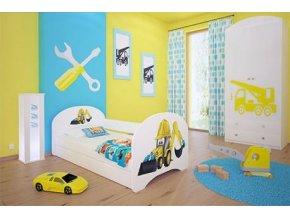 Dětská postel BABYDREAMS Digger s přistýlkou