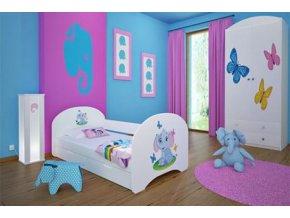 Dětská postel BABYDREAMS Elephant s přistýlkou