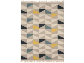 Koberec Asiatic Natural Weaves - HACKNEY Geo Mustard