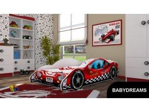 Dětská postel BABYDREAMS AUTO Red (3)