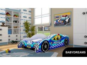 Dětská postel BABYDREAMS AUTO Police (2)