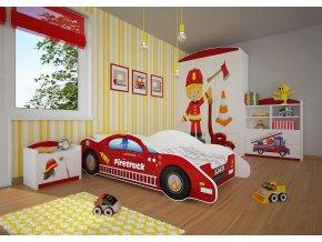 Dětská postel BABYDREAMS AUTO Firetruck (2)