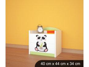 Dětský noční stolek BABYDREAMS AUTO Panda