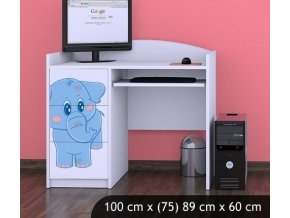 Dětský psací stůl BABYDREAMS Blue Elephant (1)