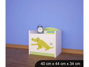Dětský noční stolek BABYDREAMS AUTO Animals 3