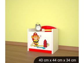 Dětský noční stolek BABYDREAMS AUTO Firetruck 2