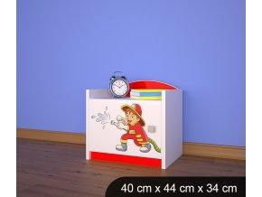 Dětský noční stolek BABYDREAMS AUTO Firetruck 3