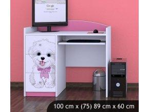 Dětský psací stůl BABYDREAMS Dog With Bow (1)