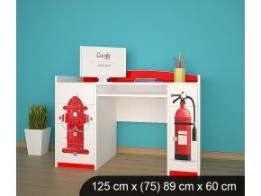 Dětský psací stůl BABYDREAMS AUTO Firetruck