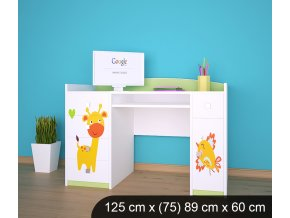 Dětský psací stůl BABYDREAMS AUTO Animals