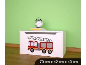 Dětská truhla na hračky BABYDREAMS AUTO Firetruck