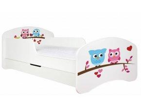 Dětská postel BABYDREAMS PASTEL Owls se šuplíkem (1)
