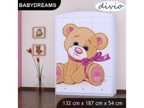 Dětská skříň BABYDREAMS Bear XXL (1)