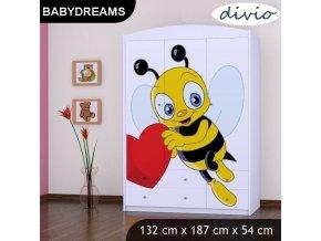 Dětská postel BABYDREAMS Bee with a heart bez šuplíku (1)