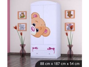 Dětská skříň BABYDREAMS Bear L (2)