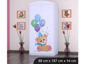 Dětská skříň BABYDREAMS Bears L (2)