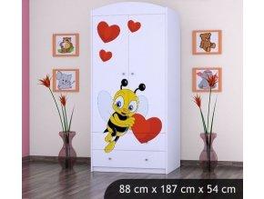 Dětská skříň BABYDREAMS Bee with a heart L (1)