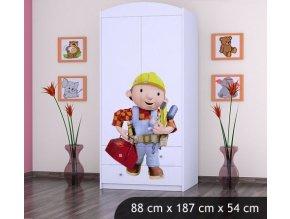 Dětská skříň BABYDREAMS Bob the Builder L (6)