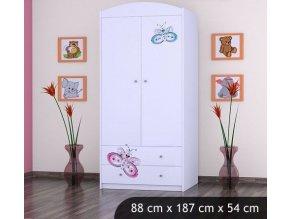 Dětská skříň BABYDREAMS Butterfly L (1)