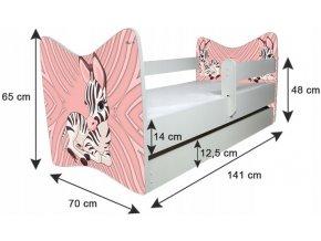 Dětská postel LUX FOTBAL 140x70cm (1)
