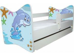 Dětská postel LUX delfín 140x70 cm