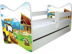 Dětská postel LUX bagr 140x70cm