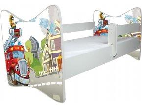 Dětská postel LUX HASIČ 140x70cm (1)