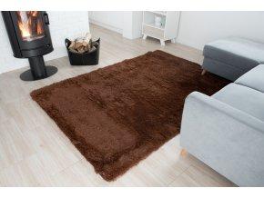 Plyšový koberec - Hnědý